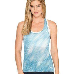 Nike Dri-fit T-back Tank-top, blue and white, L